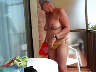 Granny 69yo Show all in Balcony