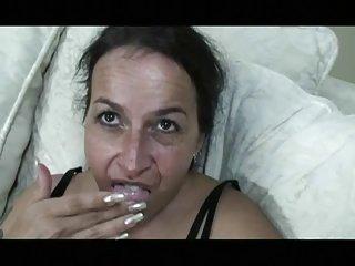 Sweet Saggy Nina Dildoes Her Hairy Hole B4 Dick