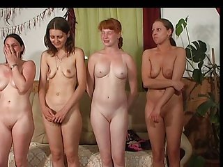 four girls spanked