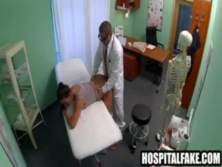 Doctor gets his dick sucked and fuckho gets fuck while her husband waits 720 6