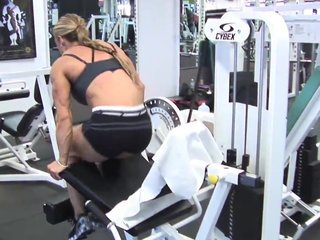 Debi Laszewski in the Gym