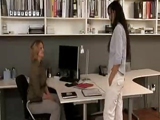 Lesbian office Seduction