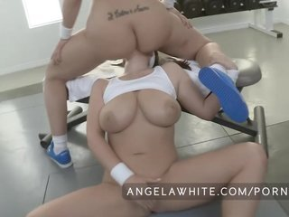 Busty Angela White And Big Booty Kelly Divine Anal Sex