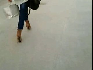 Candid #6 Woman in very high heels