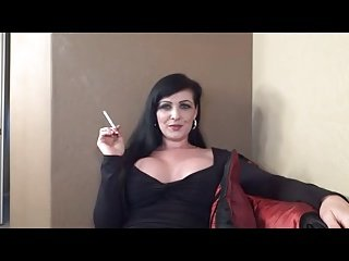 Watch hot lady smoke. JOI