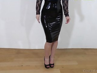 Back Latex, Legs and Heels, Sexy Whore!!!