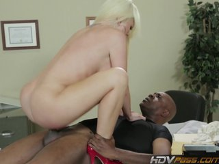 Blonde babe Alexis Ford Gets Pounded by Big Black Dick