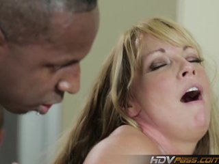 Sexy blonde Hot lady Shayla Laveaux Gets fuck by huge black dick