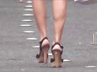 Great mom in heels street Voyeur 974