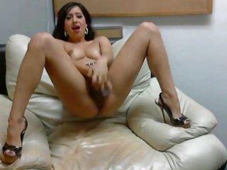 Hot Chick In Heels Fucking Herself