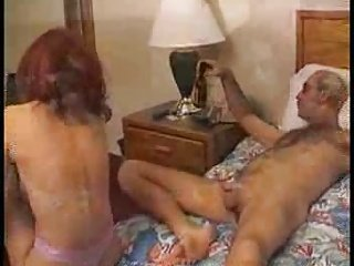 redhead licks rubs and tugs older dude's dick - frmxd com