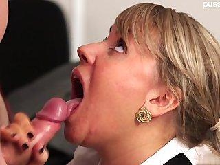 Hot shaved pussy handjob