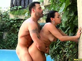 Brazilian babe Mayarra rides some dick