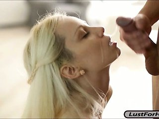 Randy blonde GF Mirta pleases her BFs big dick and gets a facial