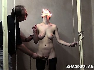 Merciless slaveslut torture of Emily X in extreme pain and hardcore interrogation of crying female prisoner in burning agony