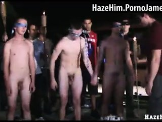 Naked guys get hazed