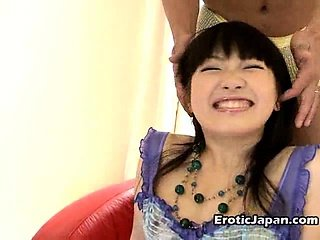 Hottie Japanese minx in sexy lingerie Akane Oozora getting small tits massaged