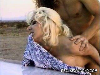 Blonde Hitchhiker Milks a Dick