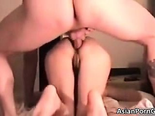 Hot asian babe gets her tight butthole part4
