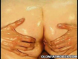 Fat Mature Enjoys Messy Sex