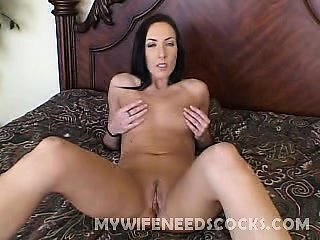 Exotic wife Katrina Isis is so hot and eager, I just can't think why someone would neglect this hottie. In this clip, Joey starts by doing a little interview and soon the camera guy made her take off her clothes and exposed her awesome set of bouncy tits.