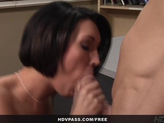 Beautiful Hot lady babe Dylan Ryder rides student