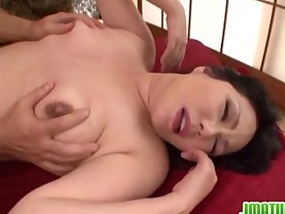 Mature lady enjoys sex at home