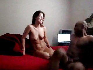 White woman happy to Big black dick