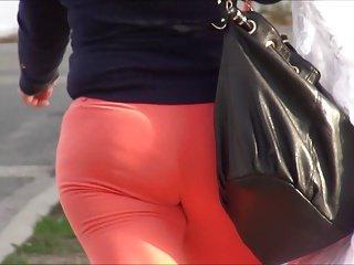Mom in Orange Spandex OMG!! HD