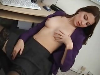 Erika Fingering And Masturbating At Computer Desk ...