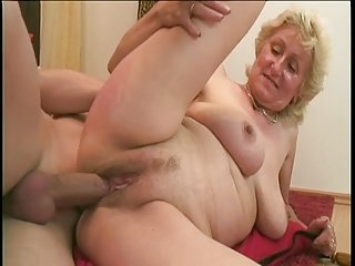 Monica: Big young dick and one dildo for the sexy old lady
