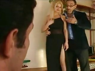 Papa - Nice blonde gets double fuck
