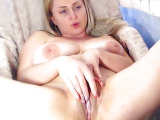 Big breasts and pussy spread on playing Hot lady