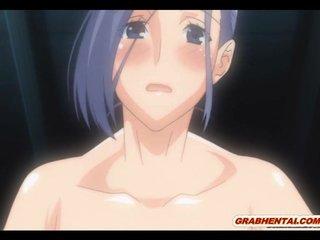 Japanese anime bigboobs gangbanged and cummed