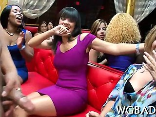 Racy blowjobs with strippers