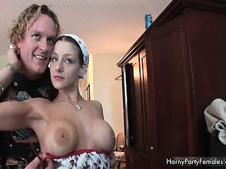 Big tits randy party girl showing part5