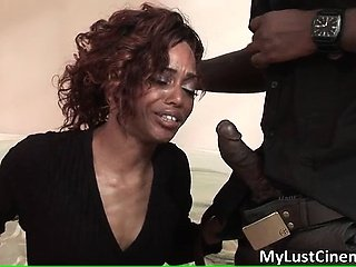 Randy ghetto slut sucks big black dick part5
