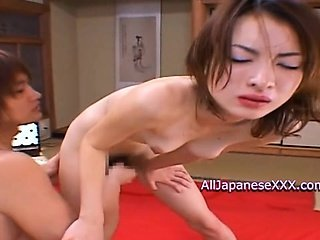 Hot slut gets naughty during bukkake