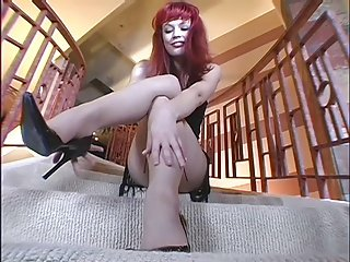 Princess sexy pantyhose tease
