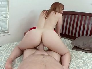 Young and hot redhead fuck by an older man