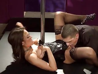 Redhead in Leather gets fuck
