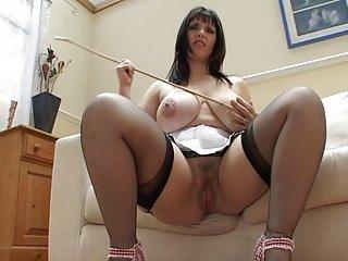 Josephine james masturbates on couch