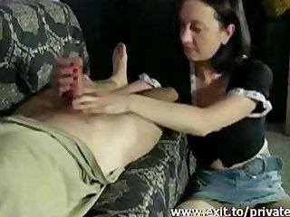 wife caprice handjob tease compilation