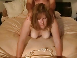 Mature blonde fuck from behind facing cam