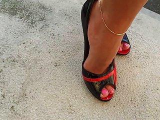 High Heels Walk - Hot lady