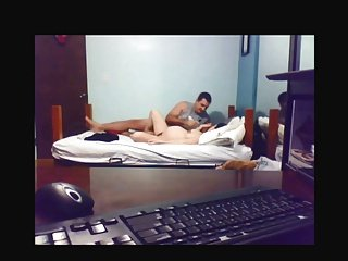 Pregnant amateurs cuple in webcam