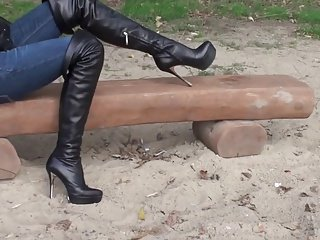 PLATFORM THIGHBOOTS private clip HD