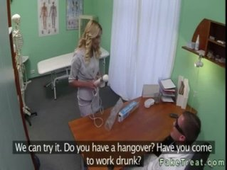 Hot blonde sales rep fuck by doctor in his office