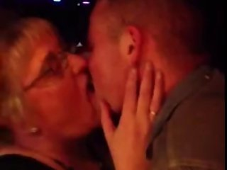 Young Man Kissing Old Lady 3