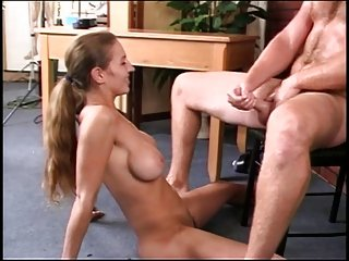 Girl with sexy tits gets her pussy licked and fuck by white guy